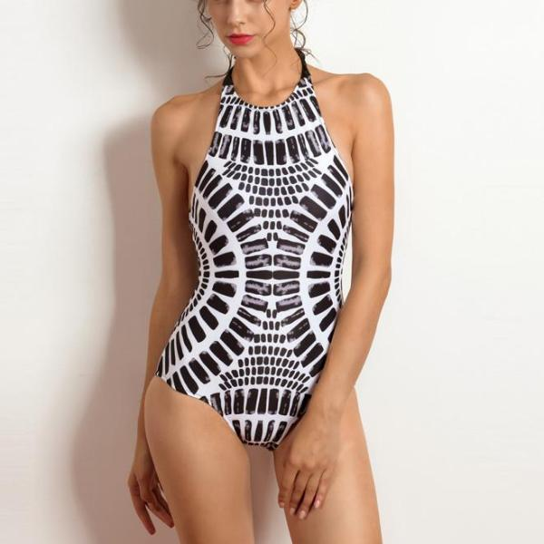Kendall's Cross-back & Lace-up Swimsuit - FashionlyX