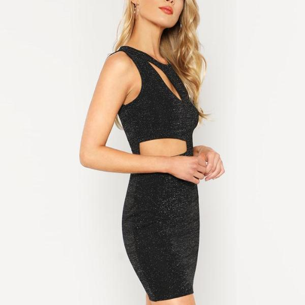 The Cut Out Glitter Dress - FashionlyX