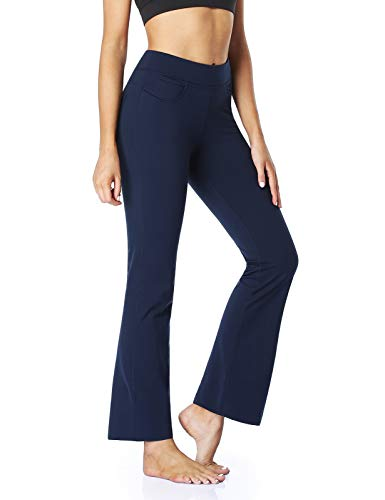 "Safort 28"" 30"" 32"" 34"" Inseam Regular Tall Bootcut Yoga Pants, Jean Style 4 Pockets, UPF50+"