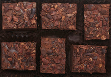 Load image into Gallery viewer, Crushed Cacao Nib Hearts of Dark Chocolate Truffles purist 6 pieces per box 2.4oz