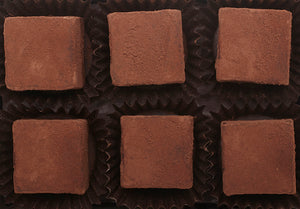 Salted Caramel Dark Chocolate Truffle cocoa powder hearts of 2.4oz 6 pieces per box