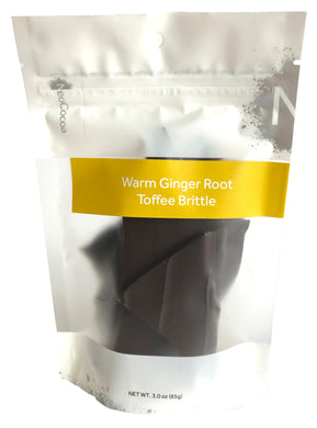 3oz Warm Ginger Root Toffee Brittle