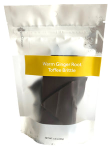 Warm Ginger Root Toffee Brittle