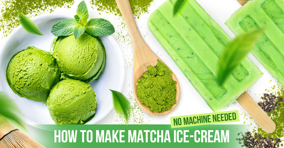 How to make Matcha Ice-cream <small>(no&nbsp;machine&nbsp;needed)</small>