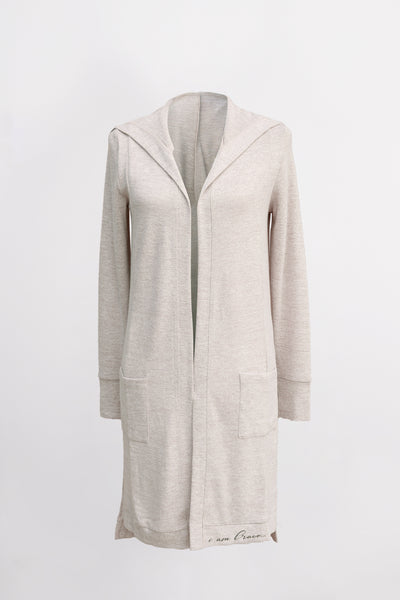 The Feny Cardigan in Heather Tan by illuminative