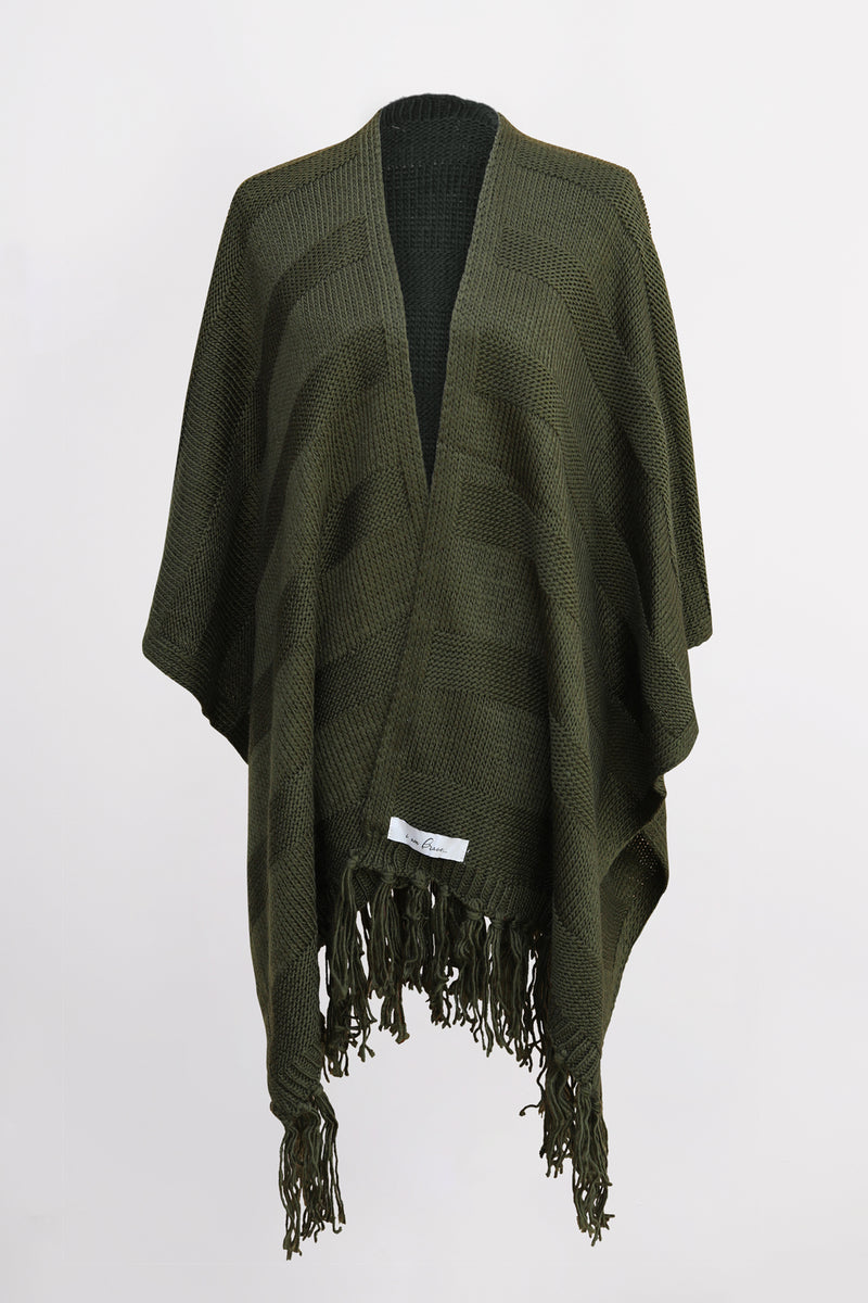 Kuwala Fringe Wrap in Olive, by illuminative