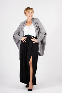 Model wearing the Zeville Cocoon Cardigan by illuminative