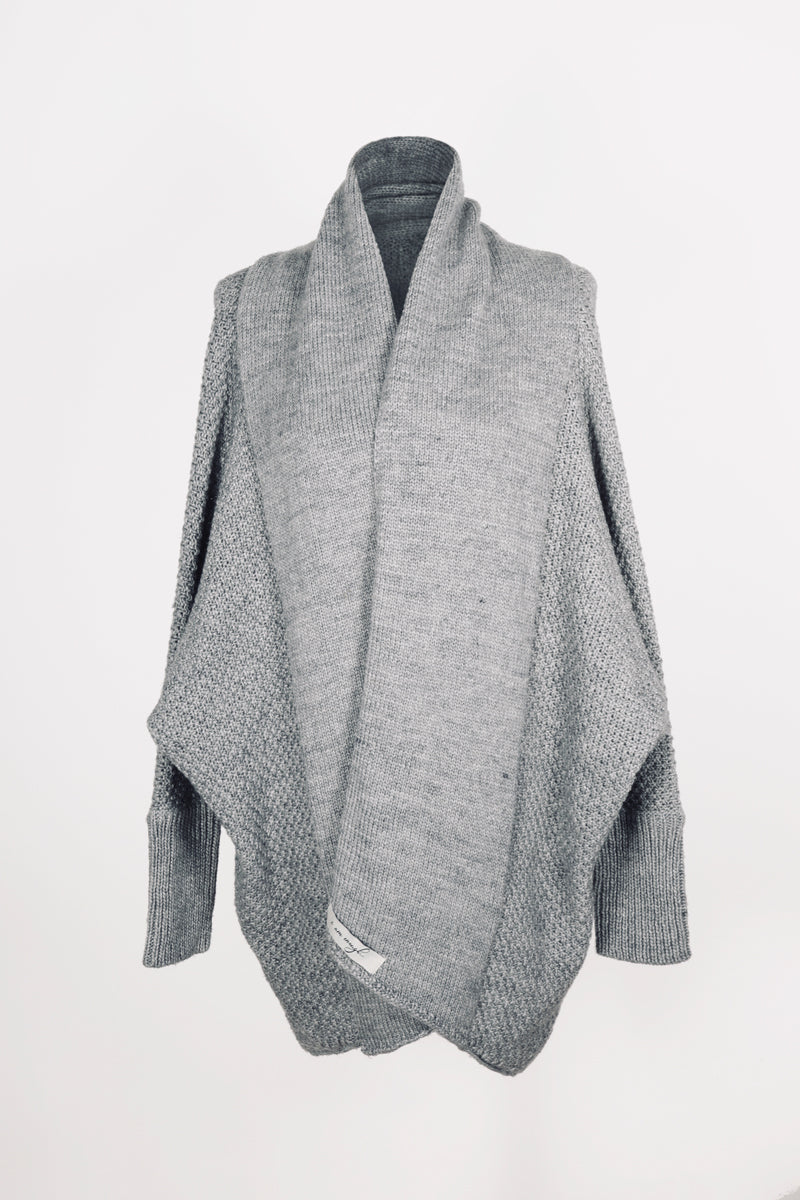Zeville Cocoon Cardigan in Grey