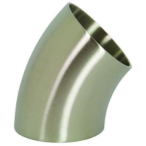 B2WK Polished 45° Weld Elbows-Sanitary Fittings-Gorman & Smith Beverage Equipment