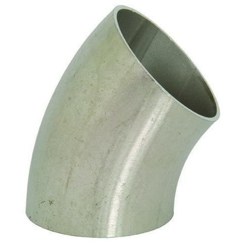 B2WK Unpolished 45° Weld Elbows-Sanitary Fittings-Gorman & Smith Beverage Equipment