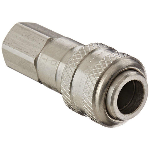 D-Type Industrial Pneumatic Female Threaded Coupler with Automatic Close-Industrial Hardware-Gorman & Smith Beverage Equipment