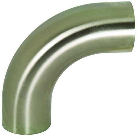 B2S Polished 90° Weld Elbows with Tangents-Sanitary Fittings-Gorman & Smith Beverage Equipment