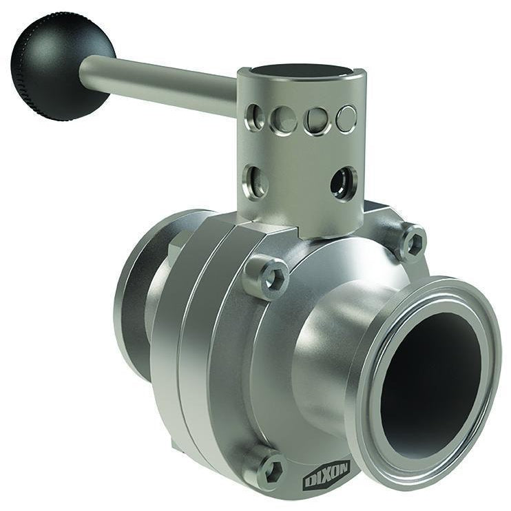 B5101 Series Butterfly Valve with Pull Handle-Dixon - Sanitary Valves-Gorman & Smith Beverage Equipment
