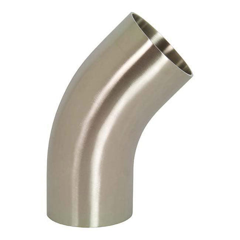 T2KS High Purity BioPharm - 45° Weld Elbows-Sanitary Fittings-Gorman & Smith Beverage Equipment