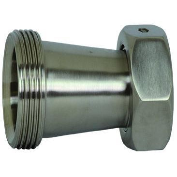 B31TP Threaded Bevel Seat x Plain Bevel Seat with Hex Nut Concentric Reducers-Sanitary Fittings-Gorman & Smith Beverage Equipment