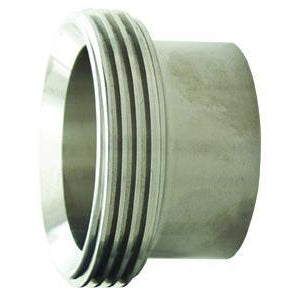 15A Long Threaded Bevel Seat Weld Ferrules-Sanitary Fittings-Gorman & Smith Beverage Equipment