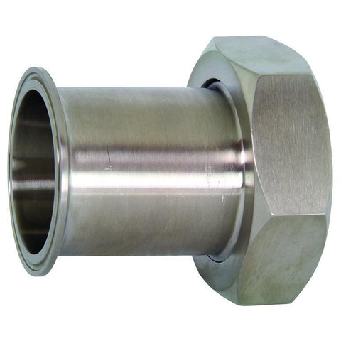 17MP Tri-Clamp x Plain Bevel Seat Adapters with Hex Nut-Sanitary Fittings-Gorman & Smith Beverage Equipment