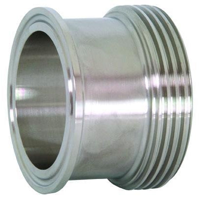 17MP Tri-Clamp x Threaded Bevel Seat Adapters-Sanitary Fittings-Gorman & Smith Beverage Equipment