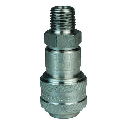 D-Type Industrial Pneumatic Male Threaded Coupler with Manual Close-Industrial Hardware-Gorman & Smith Beverage Equipment