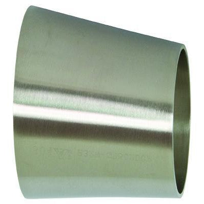 B32W Polished Eccentric Weld Reducers-Sanitary Fittings-Gorman & Smith Beverage Equipment