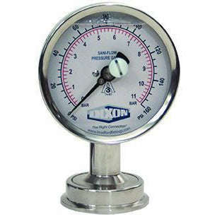 3S Sanitary Tri-Clamp Pressure Gauge-Instrumentation-Gorman & Smith Beverage Equipment