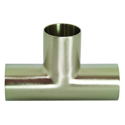 B7W Polished Long Weld Tees-Sanitary Fittings-Gorman & Smith Beverage Equipment