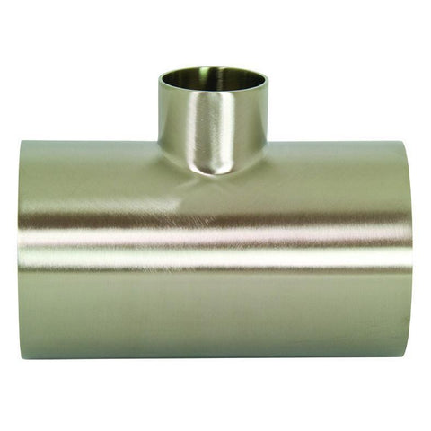 B7RWWW Polished Reducing Weld Tees-Sanitary Fittings-Gorman & Smith Beverage Equipment