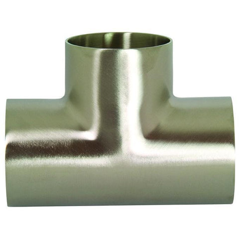 B7WWW Polished Short Weld Tees-Sanitary Fittings-Gorman & Smith Beverage Equipment