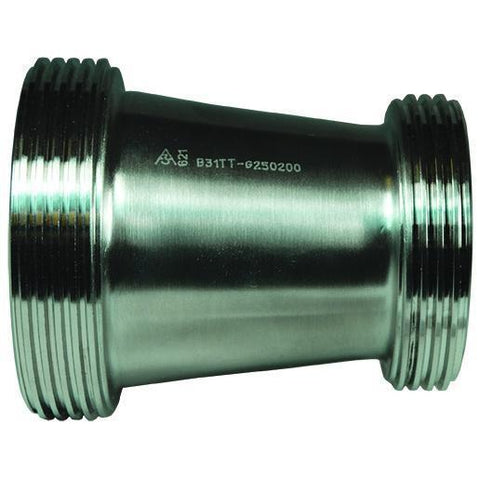 B31TT Threaded Bevel Seat x Threaded Bevel Seat Concentric Reducers-Sanitary Fittings-Gorman & Smith Beverage Equipment
