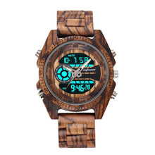 Antique Natural Digital Men's Watches LED display Wristwatches Wooden Leather Luminous Hand boys watches Bracelet Wristband