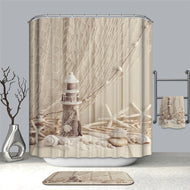 3D Printing Shower Curtains for Bathroom Waterproof Polyester Fabric Shower Bath Curtain With Hooks Bathroom