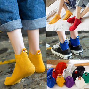 Women Socks Happy Funny Casual ankle Socks Cotton women Candy colors Summer Socks