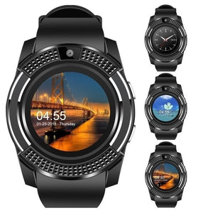 Smart Watch V8 Men Bluetooth Sport Watches Women Ladies Rel gio Smartwatch with Camera Sim Card Slot Android Phone