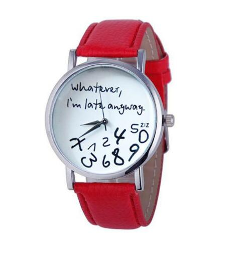 I am Late Anyway Print Wrist Watches