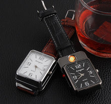 Military USB Charging sports Lighter Watch Men's Casual Quartz Wristwatches with Windproof