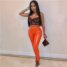Plus Size S-3XL Solid PU Leather Pants Warm Thick Highly Stretchy Fleece PU Pencil Pants Women Fashion Trousers Clubwear