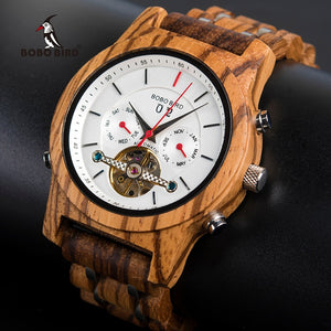 BOBO BIRD Mechanical Watches Men Top Brand Luxury Wooden Watch