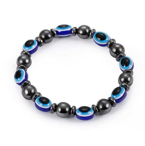 Weight Loss Round Black Stone Magnetic Therapy Bracelet