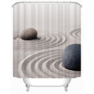 180x180cm/180x200cm Bathroom Shower Curtain Bathroom Decoration Waterproof Sand&Stone Printed Pattern Shower Curtains