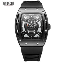 BAOGELA Men Watches Pirate Hollow Silica Wristwatch