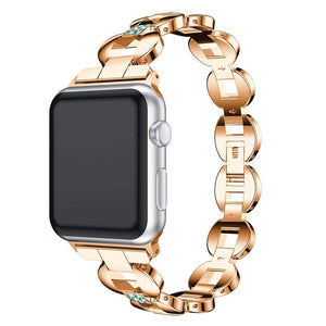 Metal Watchbands For Apple Watch Band 42mm 38mm Women Fashion Bangle with Rhinestone Bling Strap For iWatch Series 3 2 1
