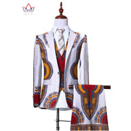 (Jacket+Vest+Pants)Blazers for Men 3 Piece Slim Fit Cowboy Wedding Men Suit Retro Gentleman Mens' African Clothing