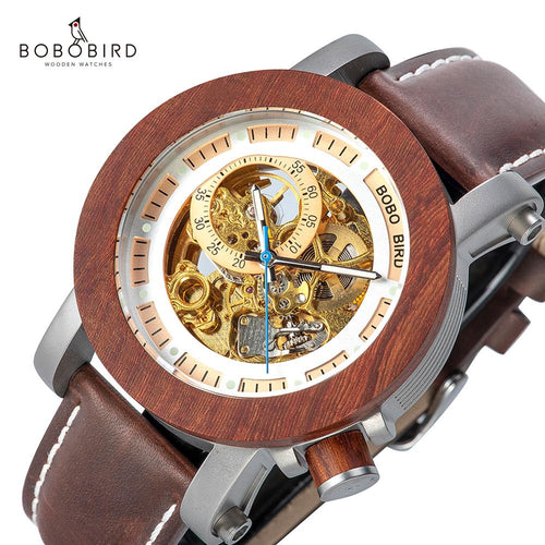 BOBO BIRD Automatic Watches Men Top Brand Luxury Mechanical Wrist Watch