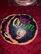 African American Queen Earrings