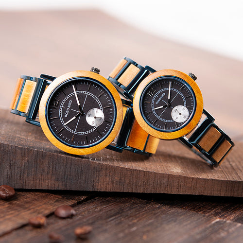 BOBO BIRD Wood Lovers' Watch Top Brand Luxury Men Watch Women Quartz Wristwatches