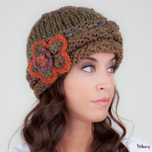 Rosebud Hat in Khaki Green