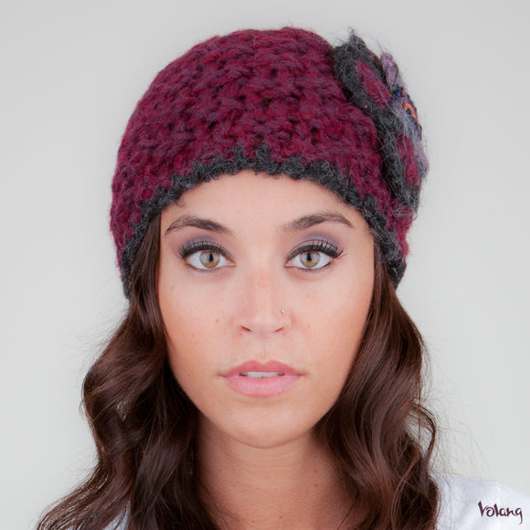 Katie Hat in Burgundy