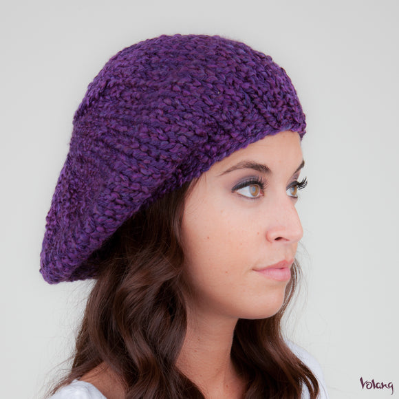 Beret Hat in Purple
