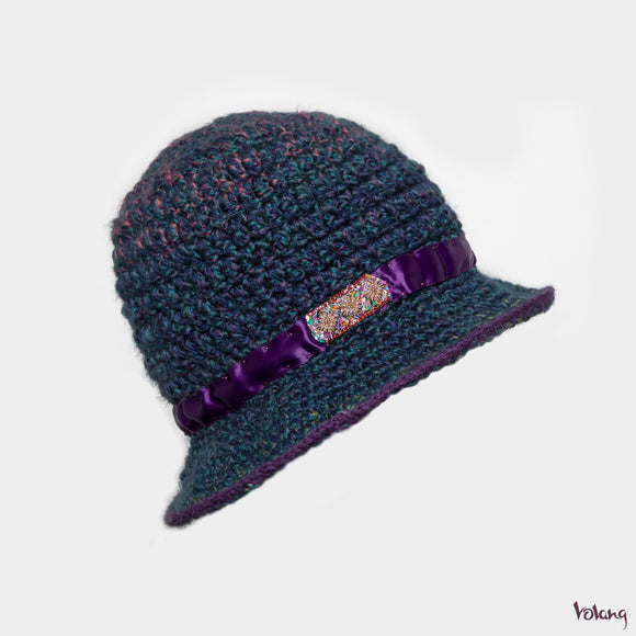 Sunday Hat in Blue Purple