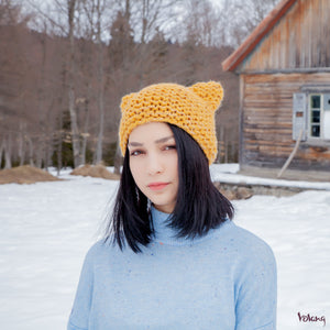Cat Hat in Mustard Yellow
